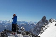 Col Freshfield {3527m] looking towards Italy. Winter 2018