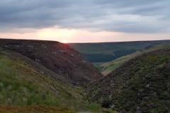 Sunset, Dovestones Edge Wednesday evening Meet, July 2018