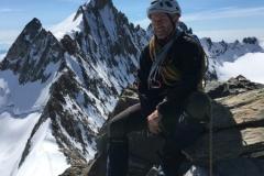 Dave Palmer on Lenzspitze - Nadelgrat traverse. Summer 2018.