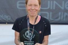 Julie Finn, overall winner Equinox24 September 2019