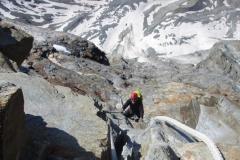 Top of the Echelle Jordan, SW (Italian) Ridge, Matterhorn. Summer 2019