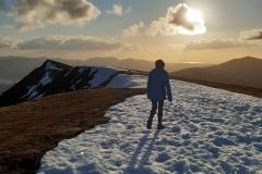 A last walk before lockdown. Jean Llewellyn - Blencathra. Photo - Andy Llewellyn
